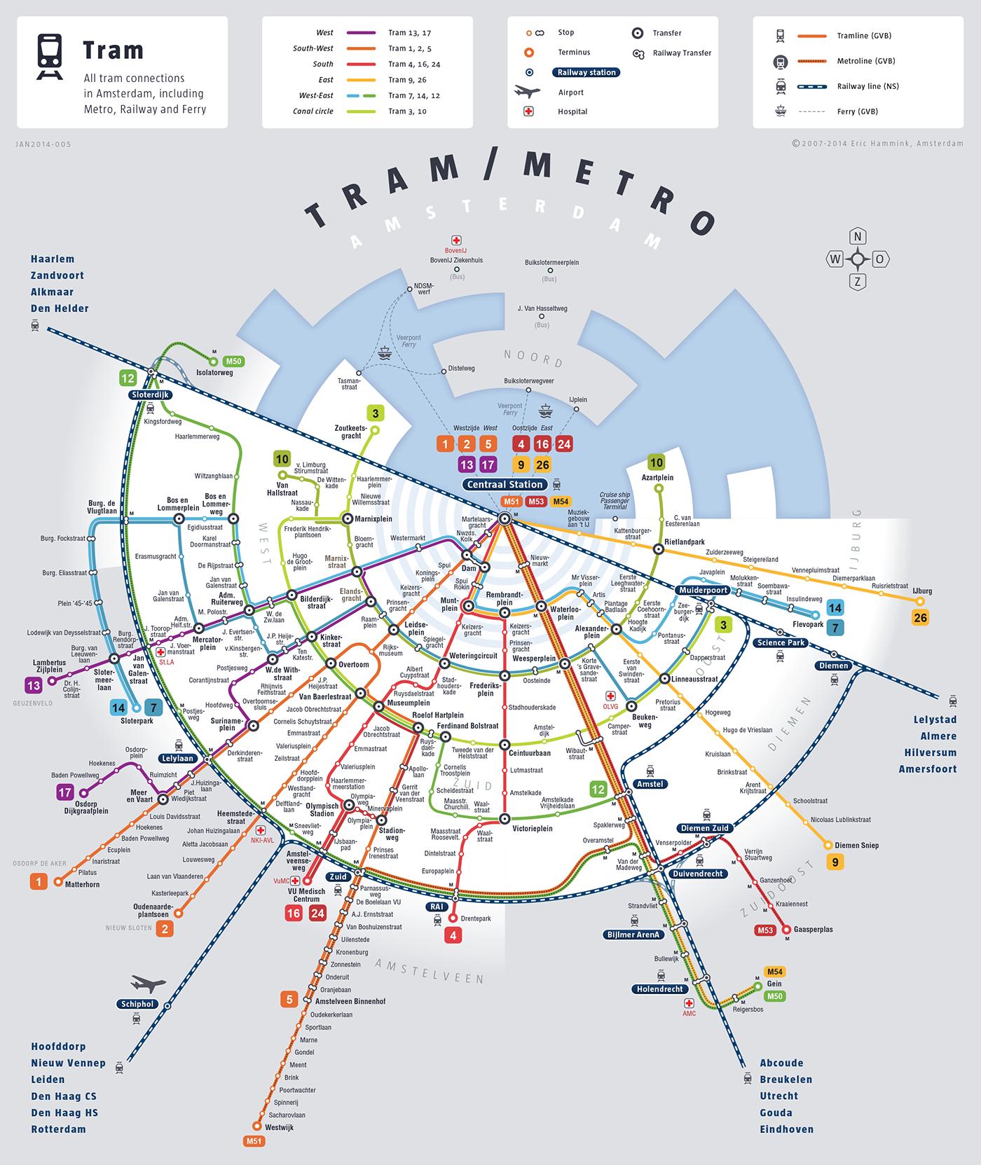 Holland Dutch train / rail maps