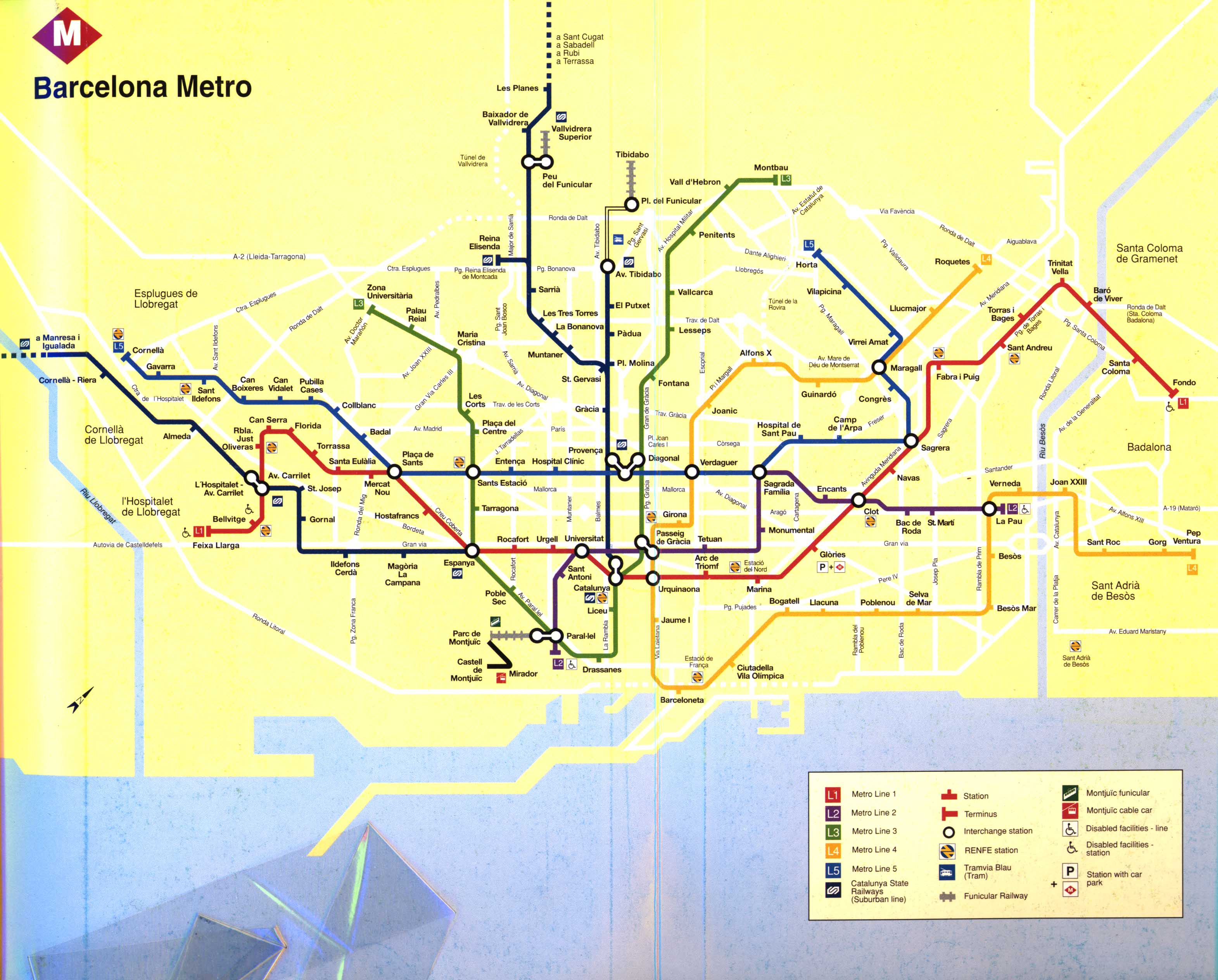 Subway Map Of Barcelona Spain.Spain Madrid Barcelona Train Rail Maps