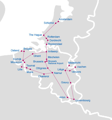 belgium train rail map belgium train rail map