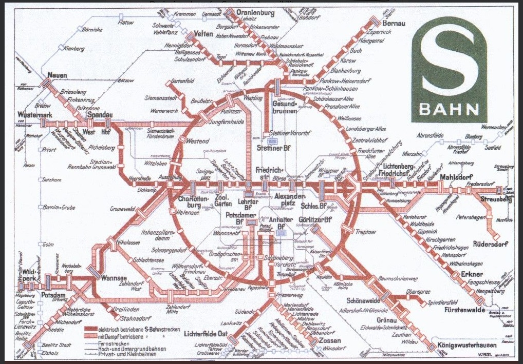 Germany Deutschland train / rail maps