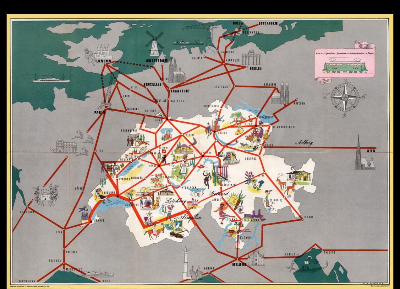 correspondences internationales sbb 1956 otto m mller belgium train rail map