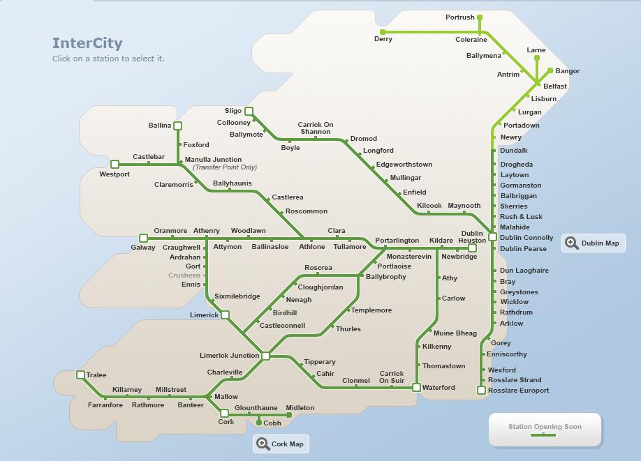 Ireland ireland intercity train rail map ie gumiabroncs Images