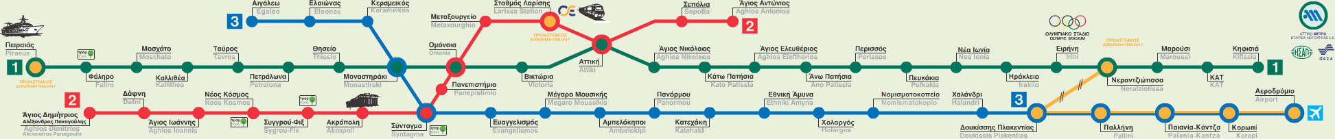Subway Map Athens Greece.Athens Greece Train Rail Maps
