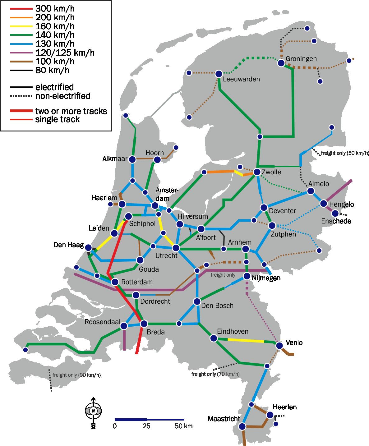 Holland Dutch train  rail maps