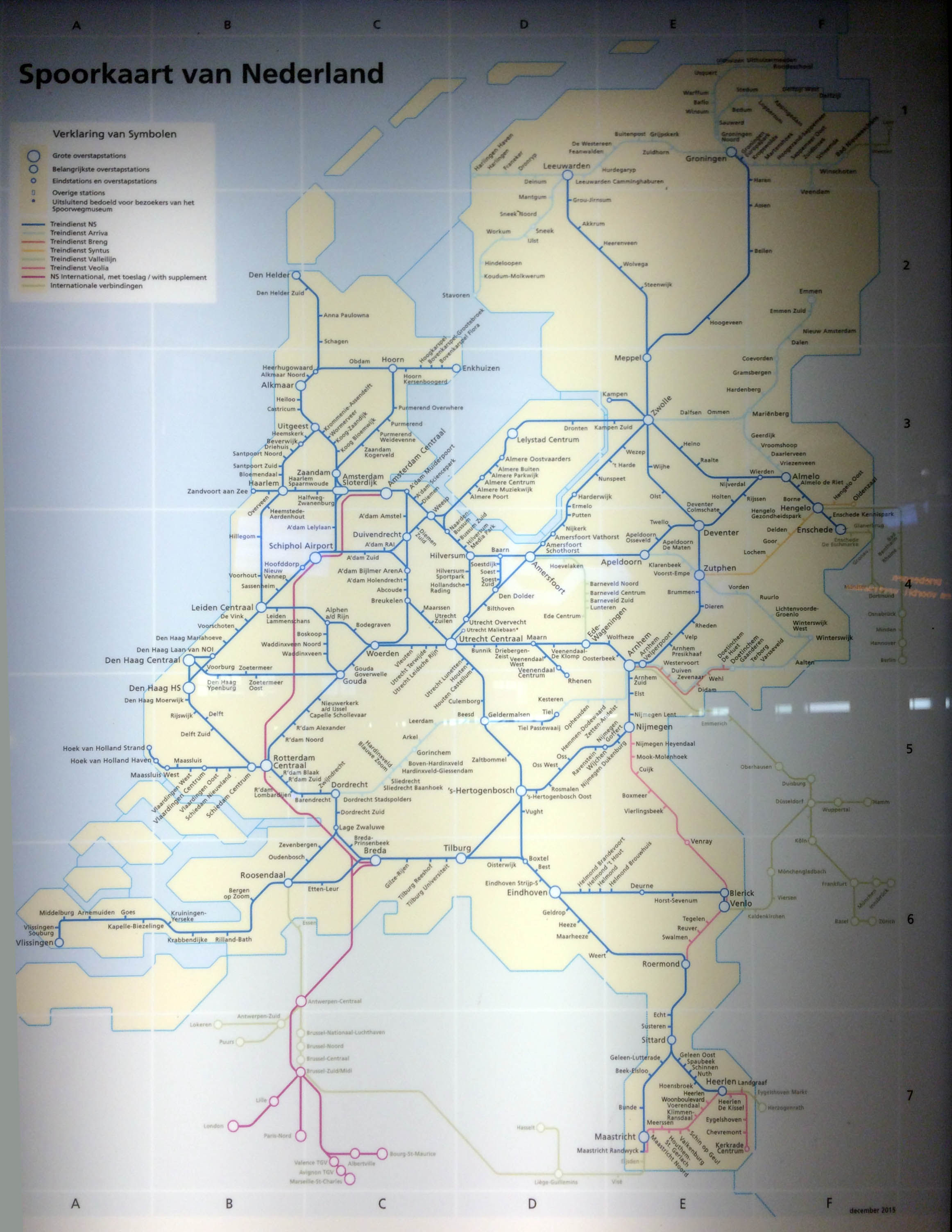 Holland Dutch rail train map Holland Dutch