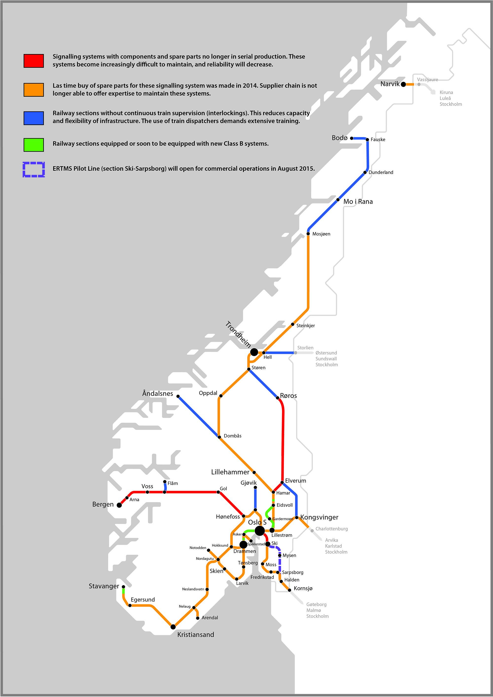 Norway Train Rail Maps - Norway map railway