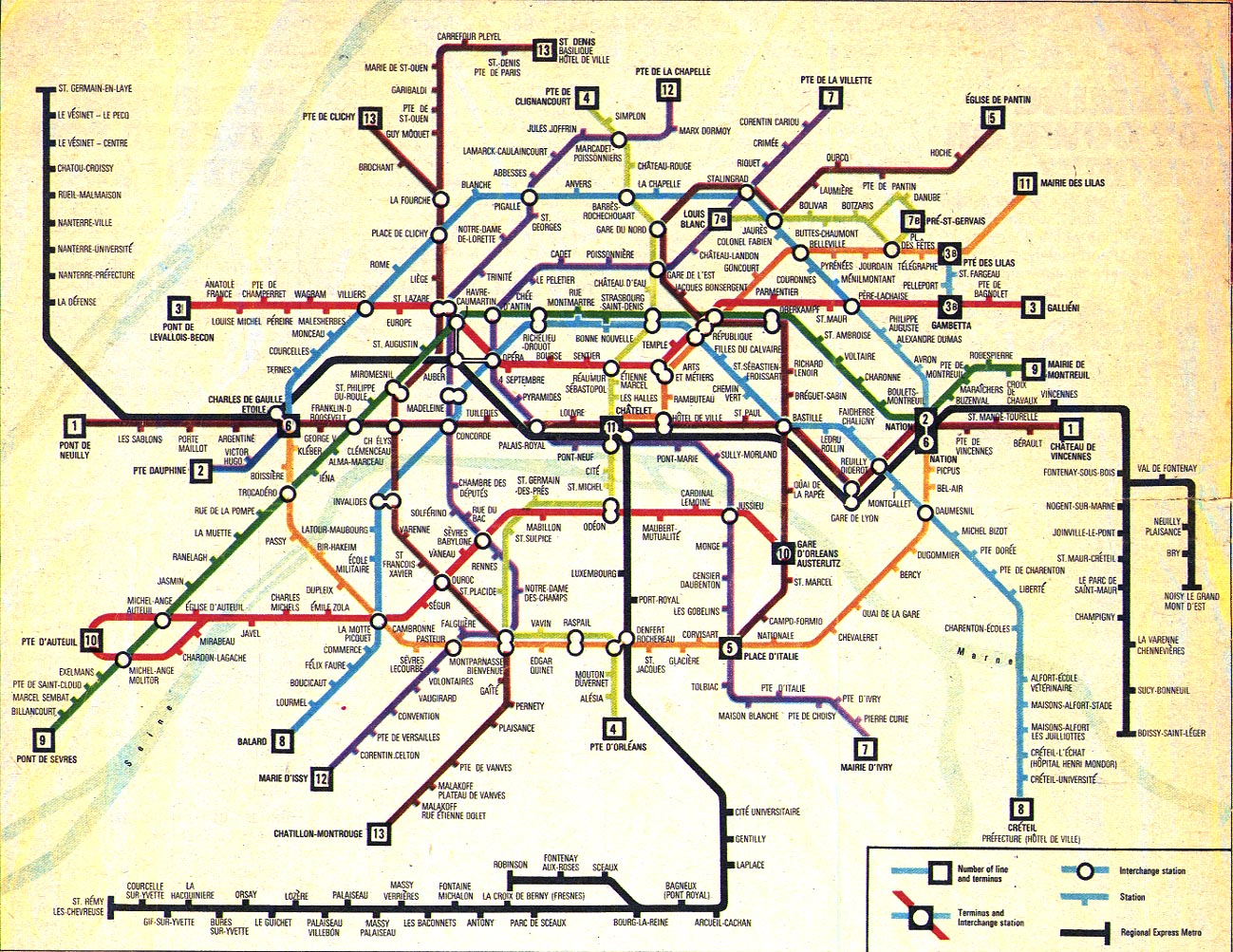 France Paris Train Rail Maps - Paris map metro