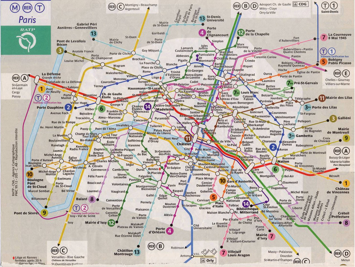 France Subway Map.France Paris Train Rail Maps