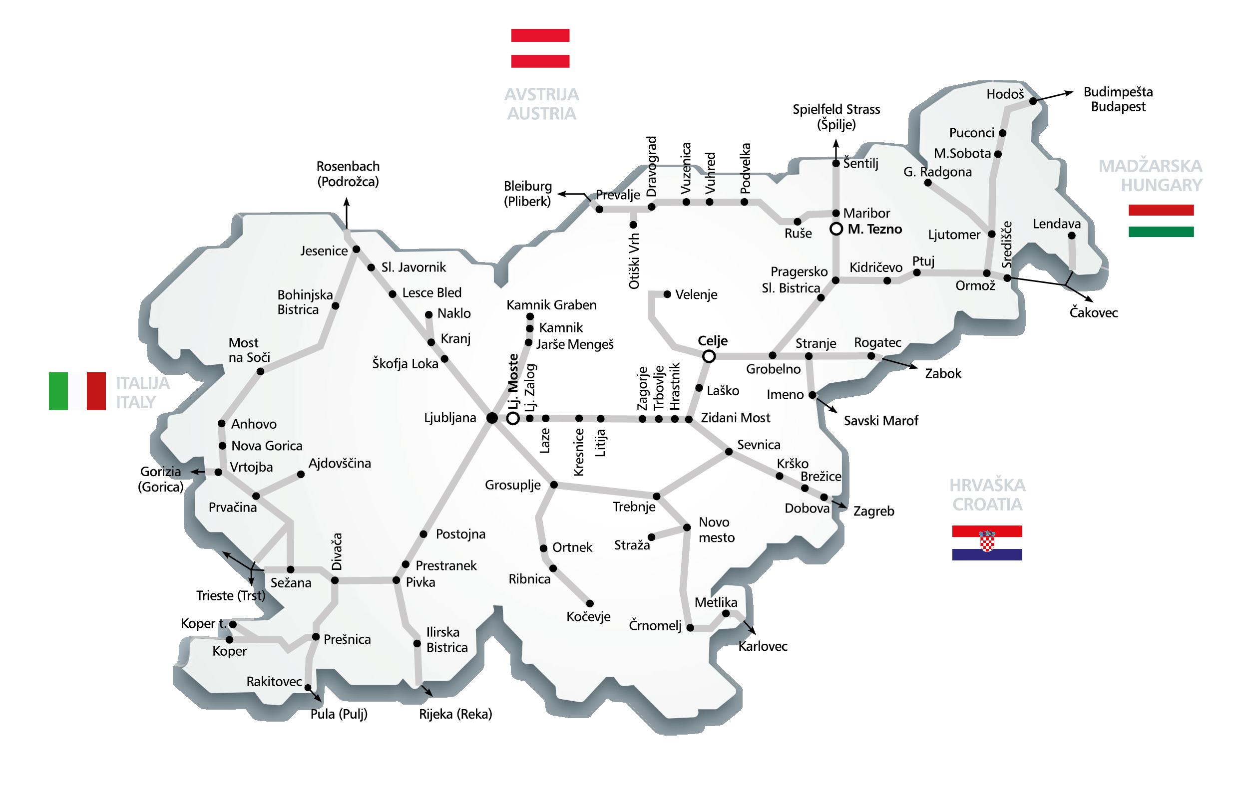 Europe Train Rail Maps - Sweden rail network map