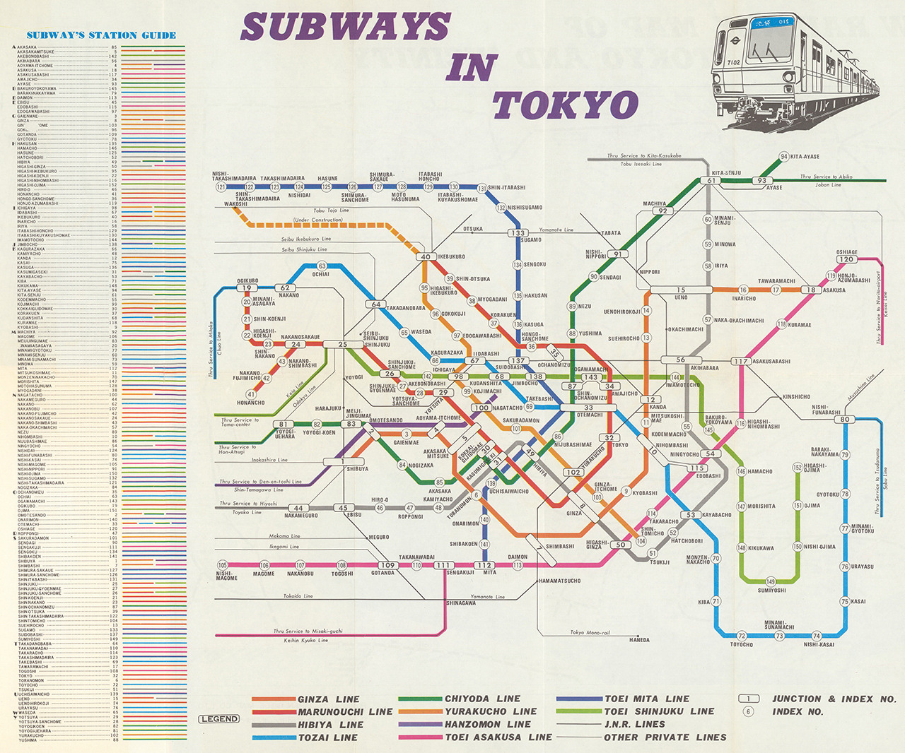 Japan Train Rail Maps