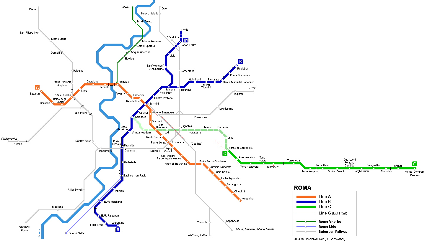 Italy Train Rail Maps
