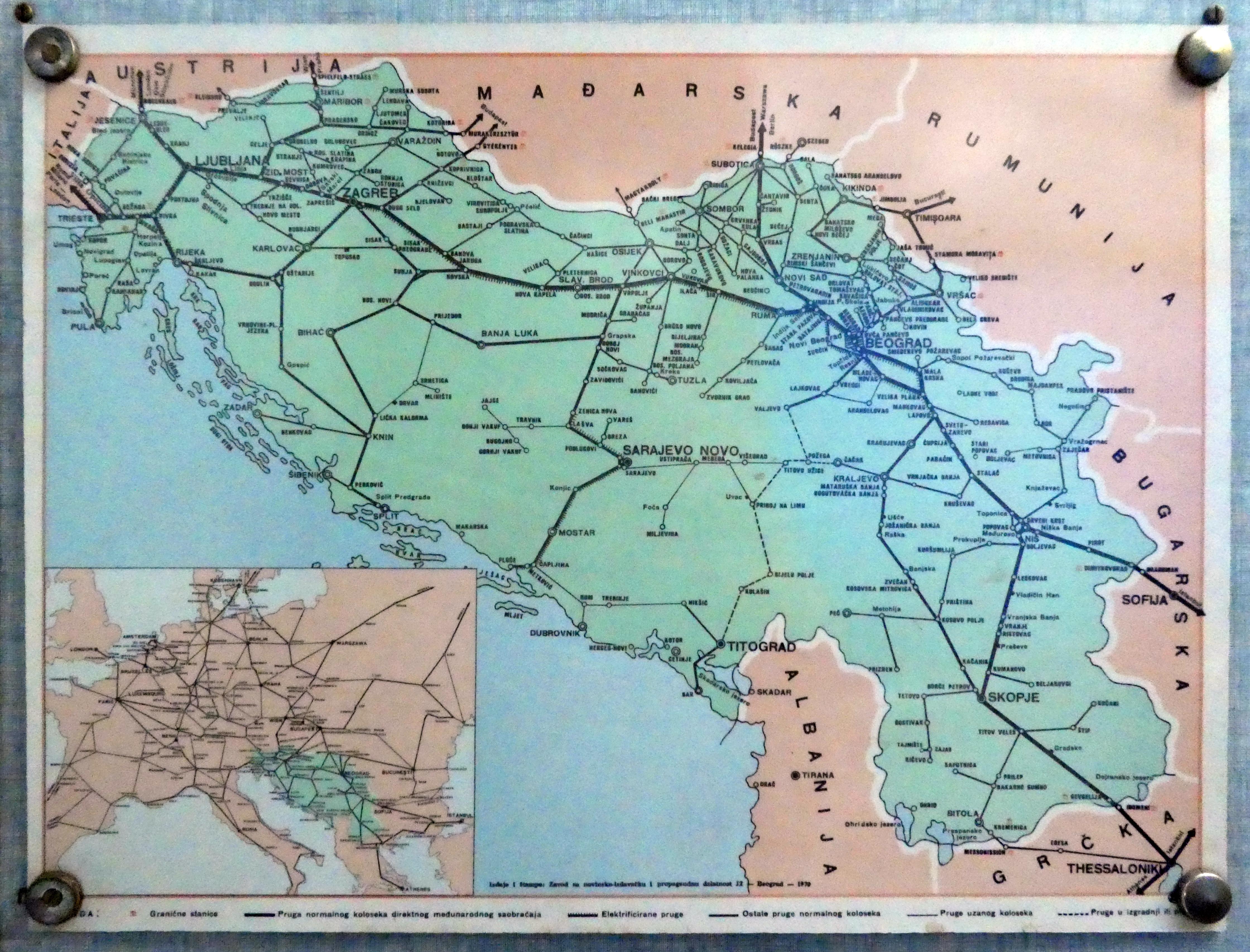 Europe train rail maps yugoslavia train rail map gumiabroncs Choice Image