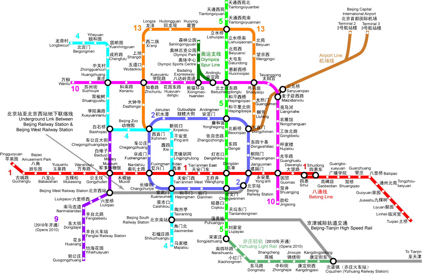 Subway Map Shanghai 2011.China