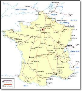 Paris On Map Of France.France Paris Train Rail Maps