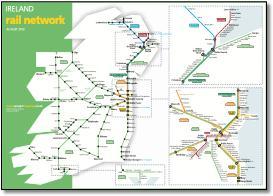 Rail Map Of Ireland.Ireland