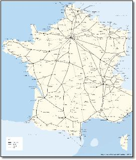 Rail Map Of France.France Paris Train Rail Maps