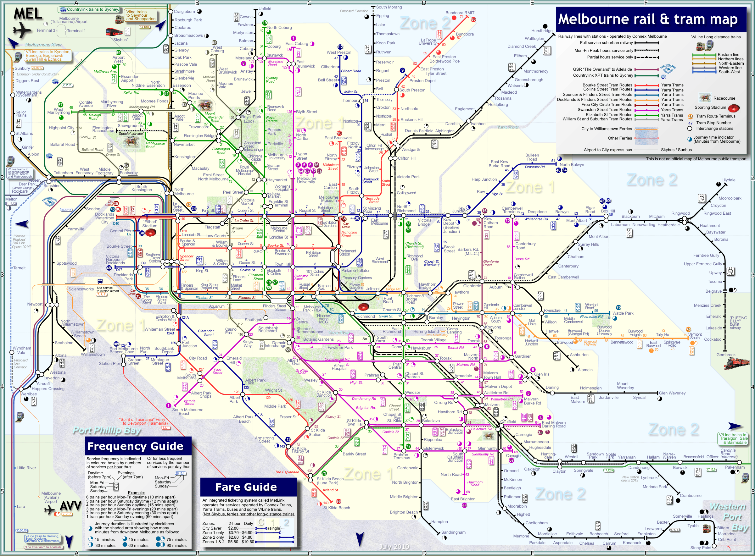 Australia Map Melbourne.Australia New Zealand Train Rail Maps