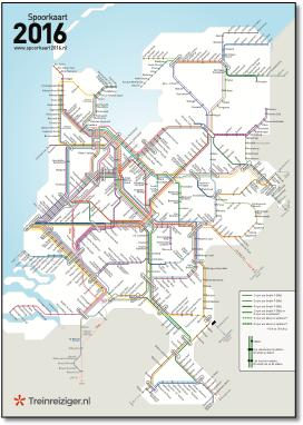 Map Of Germany And Holland.Holland Dutch Train Rail Maps