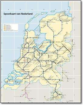 Holland Dutch train / rail maps on