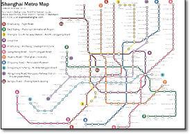 Shanghai Metro Map 2016.China