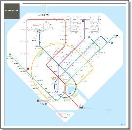 Singapore Mrt Lrt Train Rail Maps
