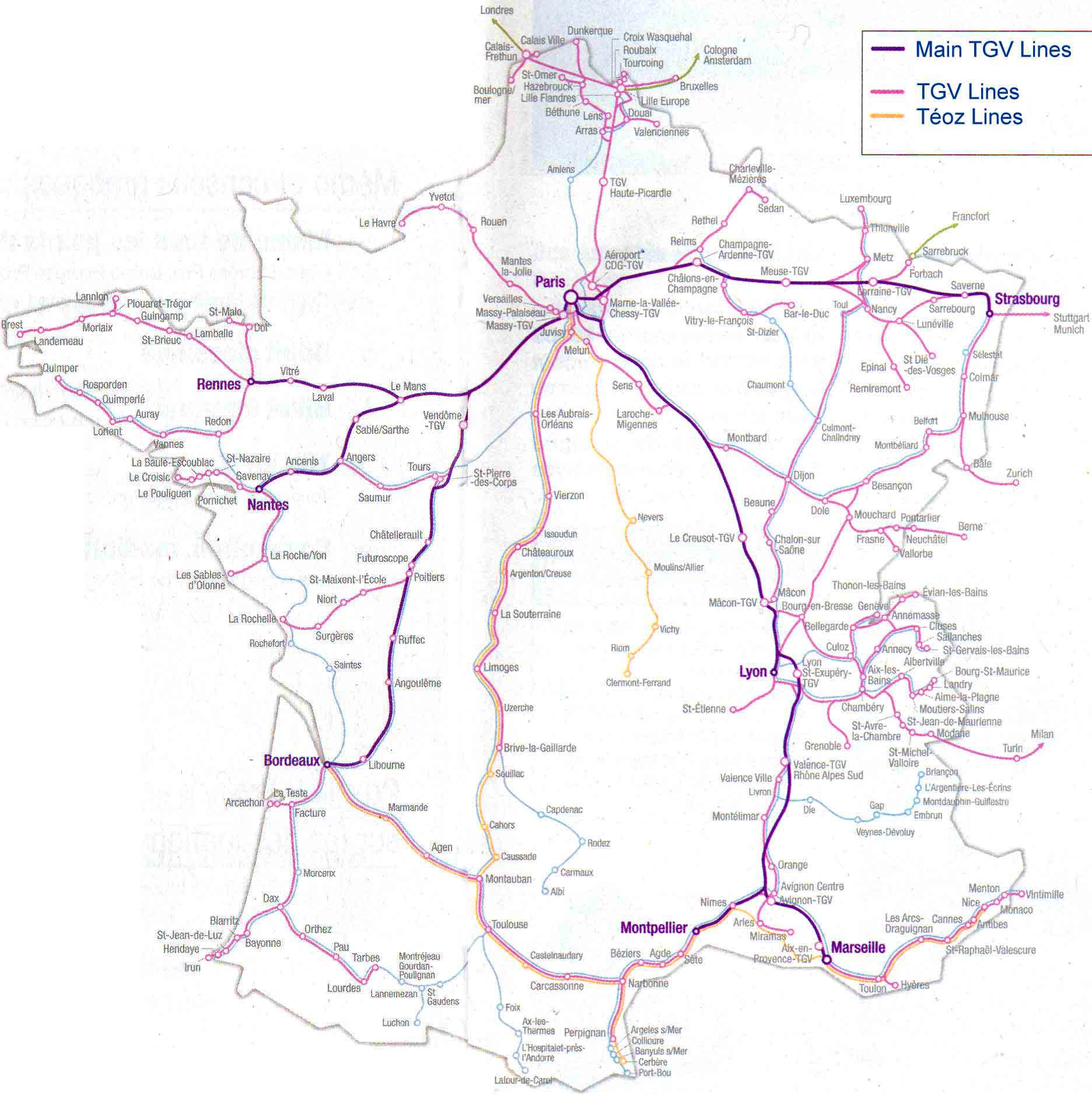 a history of the high speed rail and the tgv in france and germany Germany's latest ice high-speed train germany's main rail operator deutsche bahn france's tgv (train à grande vitesse) has been in operation since 1981.