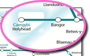 Arriva Trains Wales train rail network map