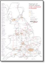 UK train map under construction or proposed