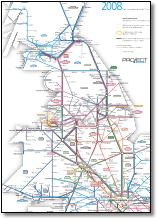 London & South East connections train rail map