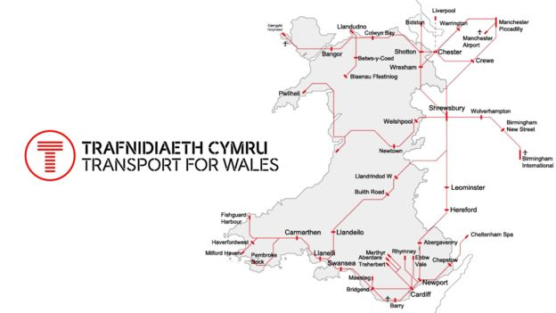 Detailed Map Of Wales Uk.Wales Train Rail Maps