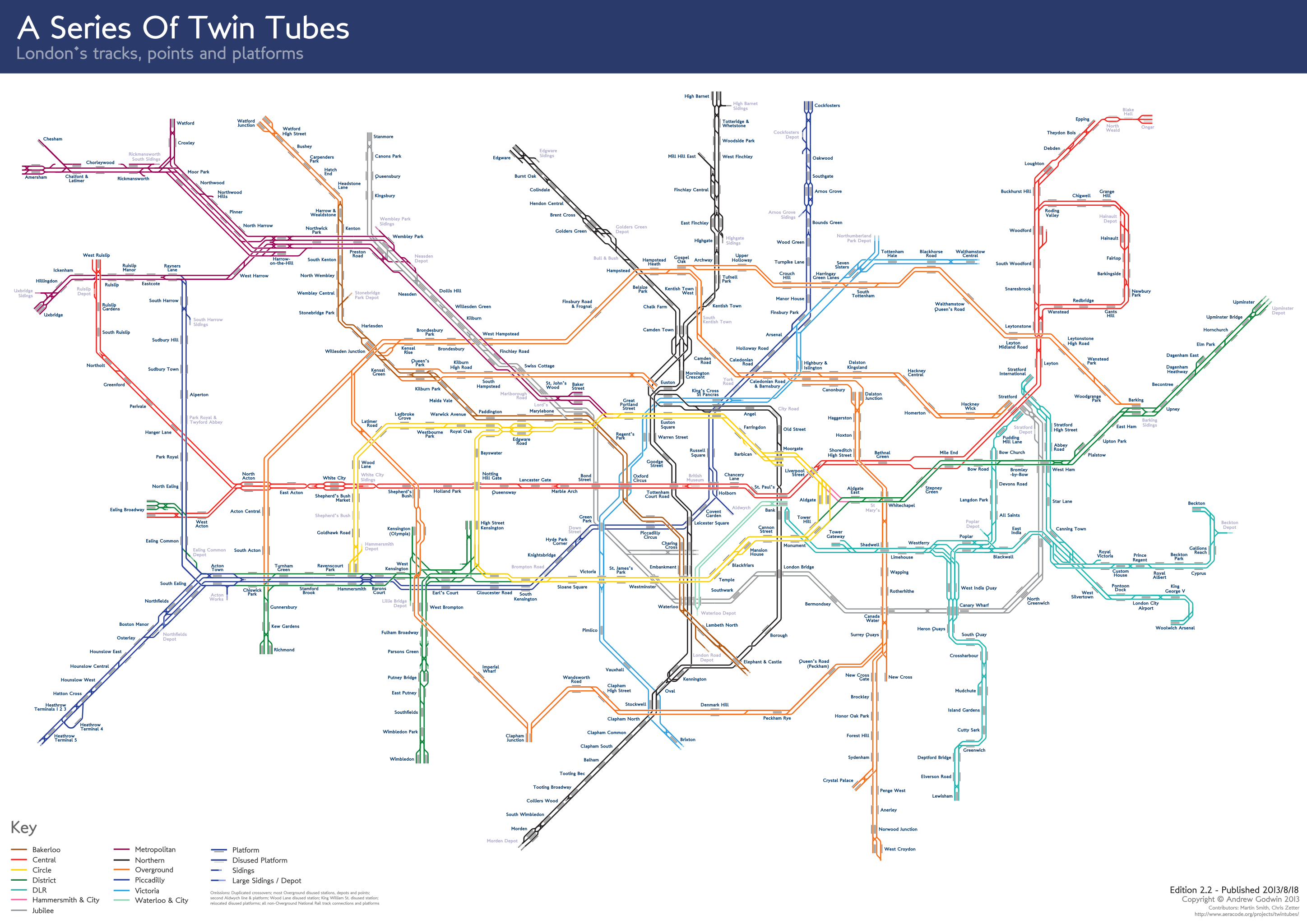 a series of twin tubes map