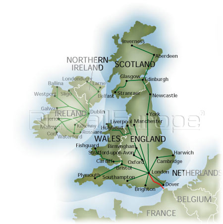 Geographic Map Of England.Uk Rail Maps Schematic And Geographic
