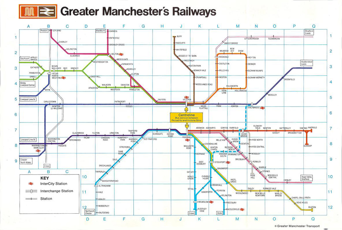 Greater Manchester local train and metrolink network maps – Train Travel In England Map