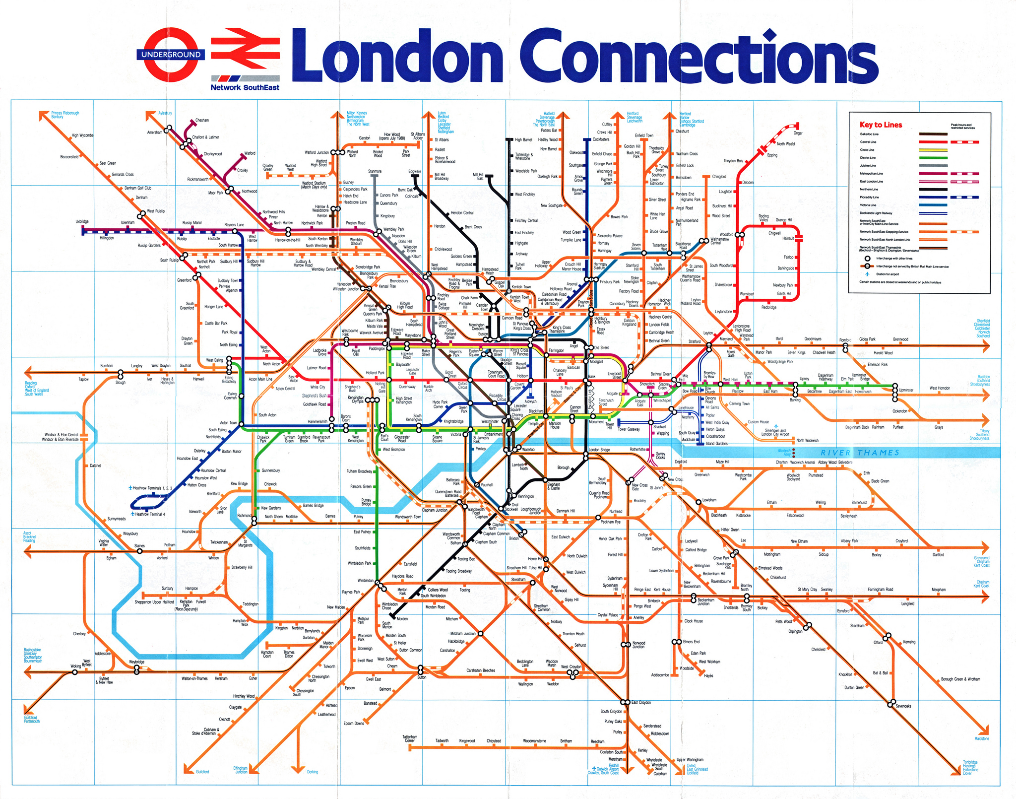 London Tube and Rail maps – London Travel Zone Map