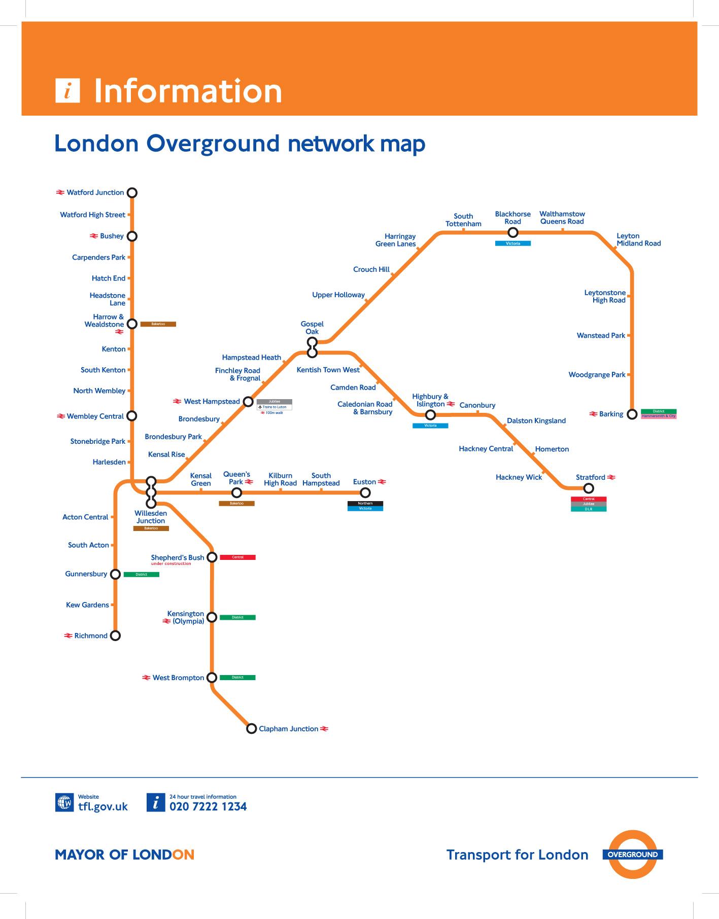 London Overground Train Rail Maps