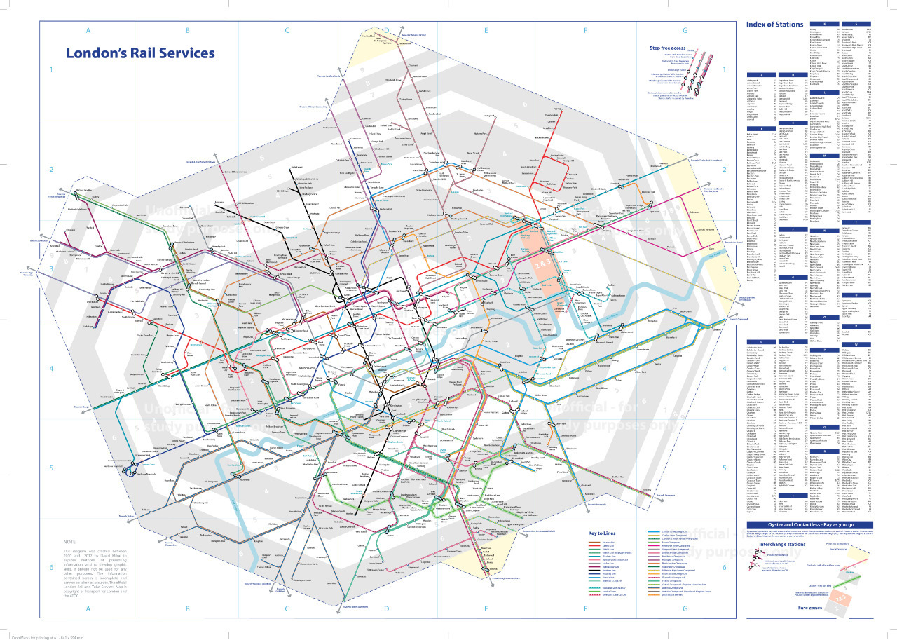 London Tube And Rail Maps - London map train