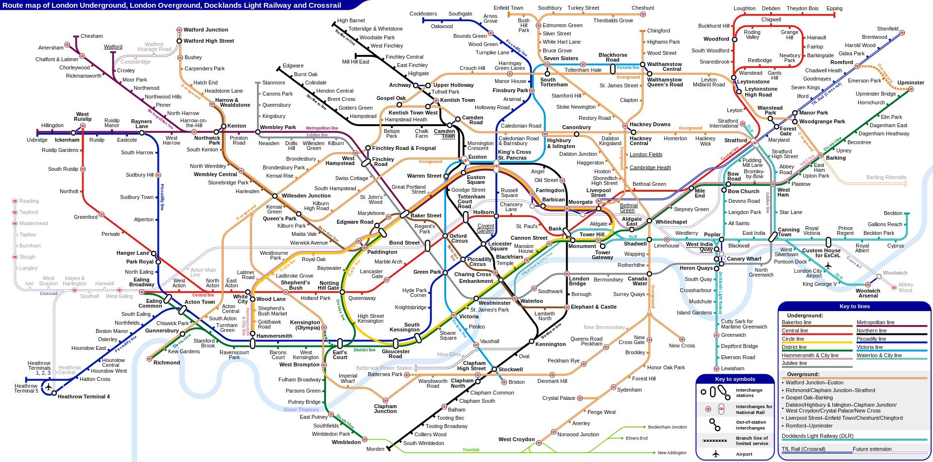 london underground tube map
