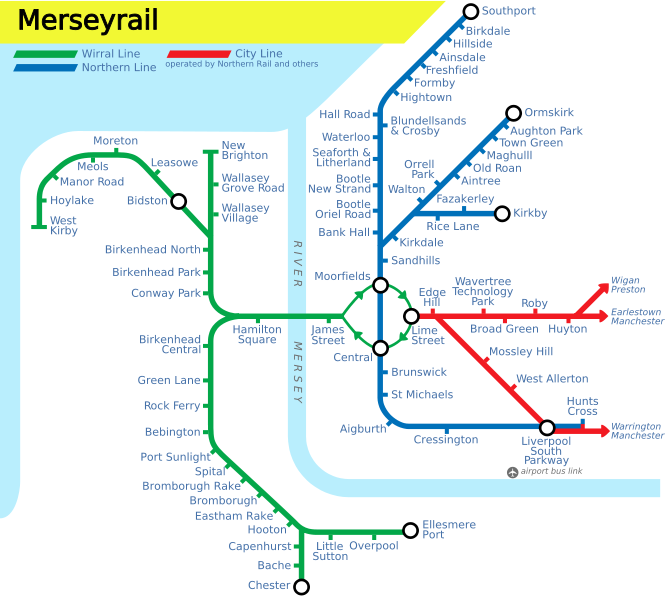 Merseyrail Train Rail Maps And Reviews: Uk Train System Map At Infoasik.co