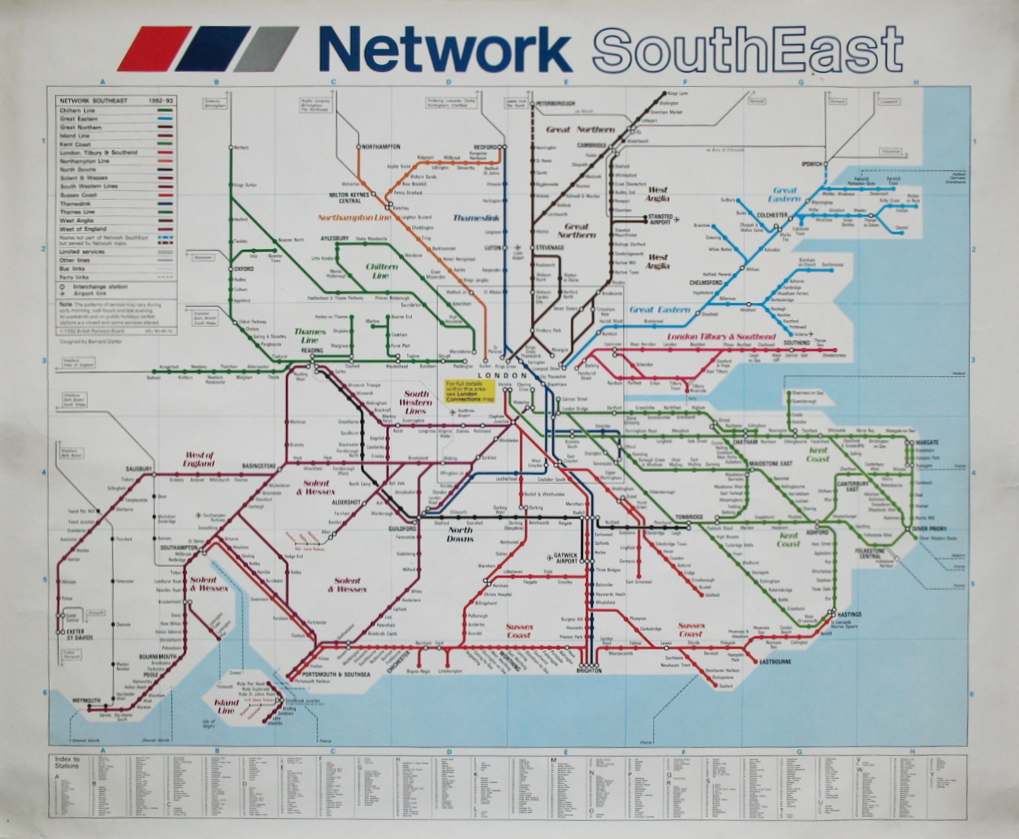 london south east connections train rail map