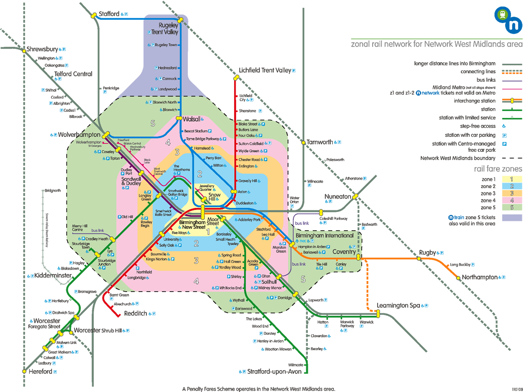 network west midlands rail train map