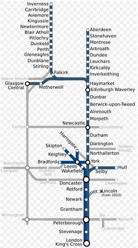 Map Of Uk East Coast.East Coast Lner Virgin Gner Nxec Train Rail Maps
