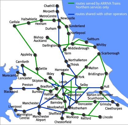 northern trains rail maps Northern Train Line Map northern spirit train rail map northern train line uk