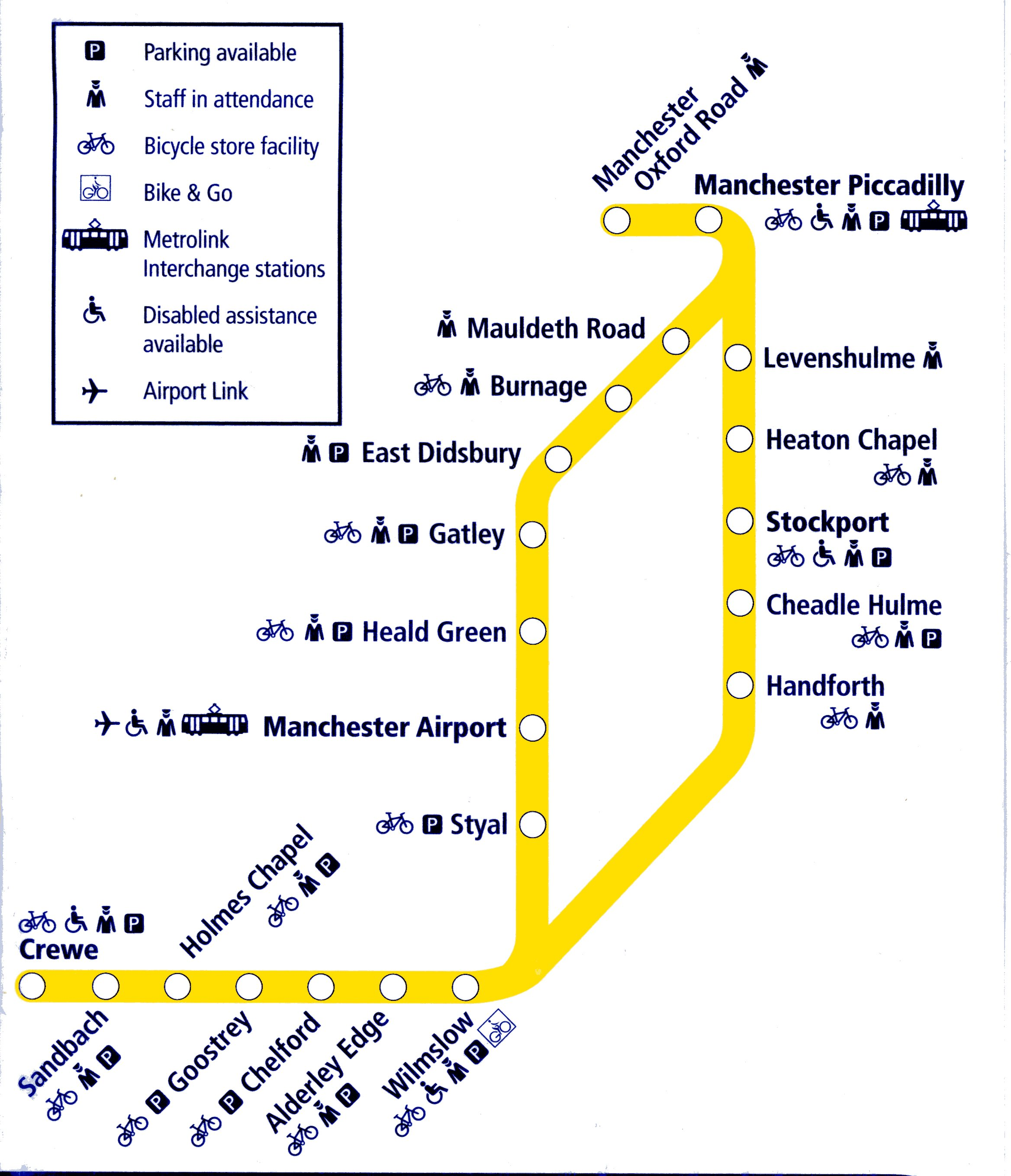 Northern Trains rail maps