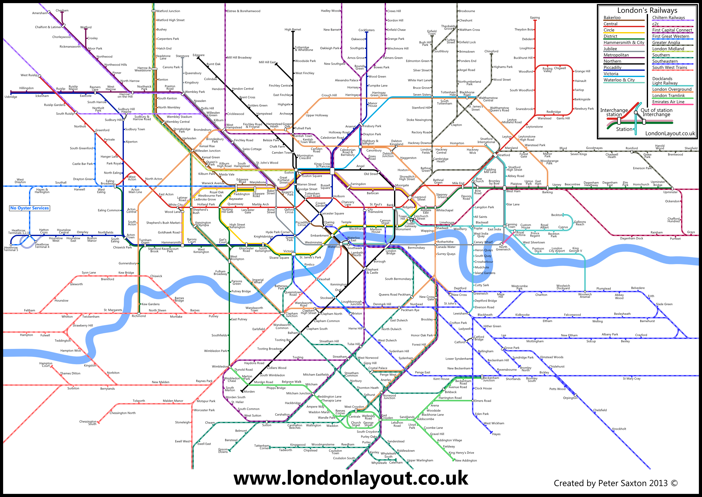 London Tube and Rail maps RAIL MAPS