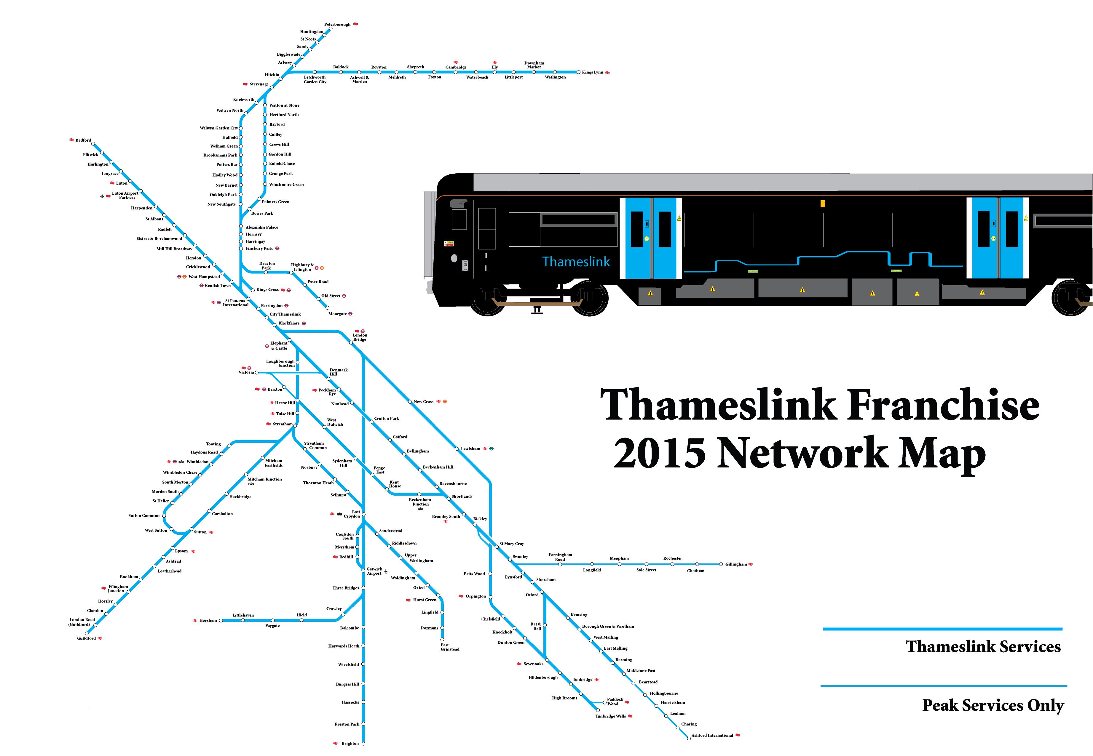 Thameslink Train Rail Maps Intranet Network Diagram Flickr Photo Sharing Map
