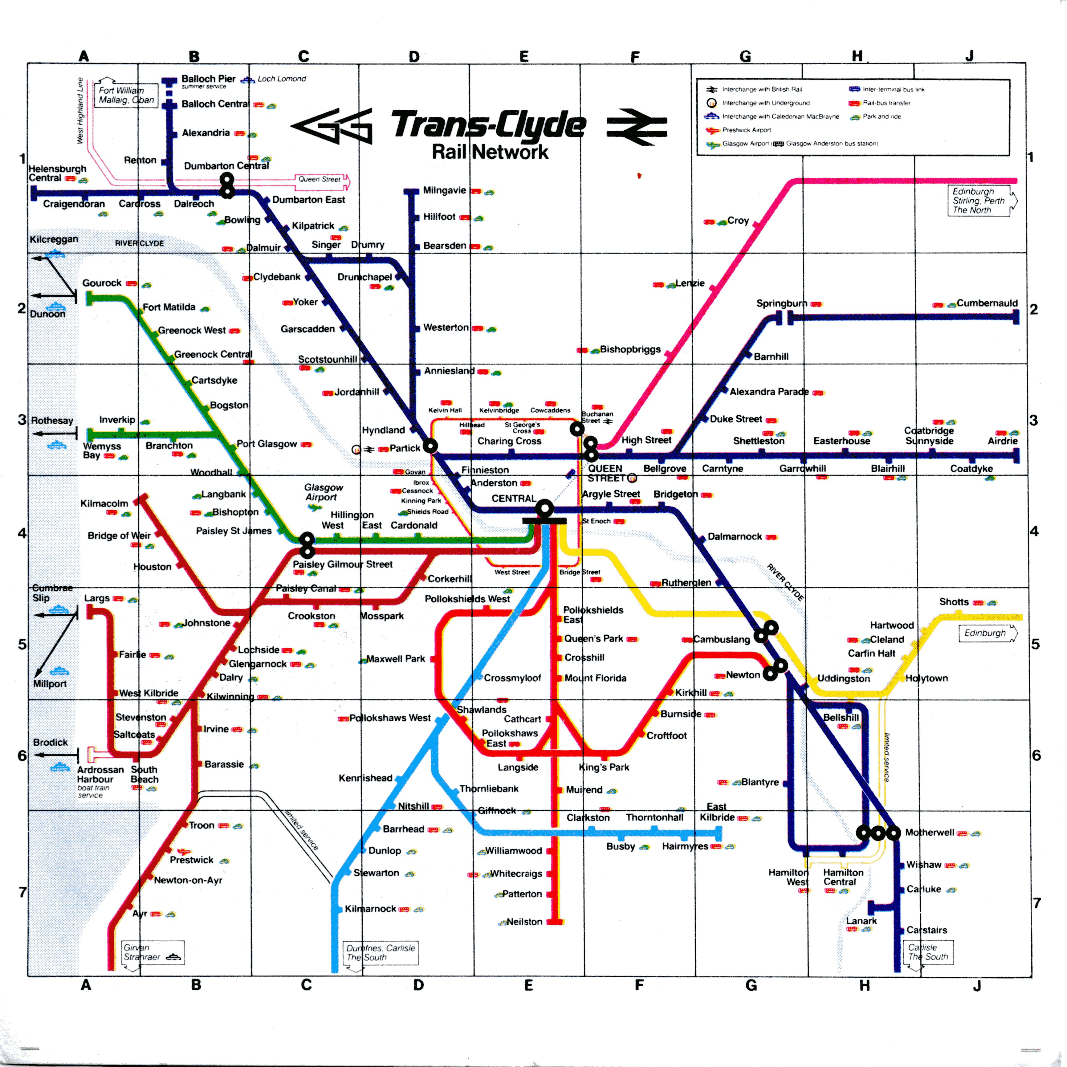 Scotland And Scotrail Train Rail Maps