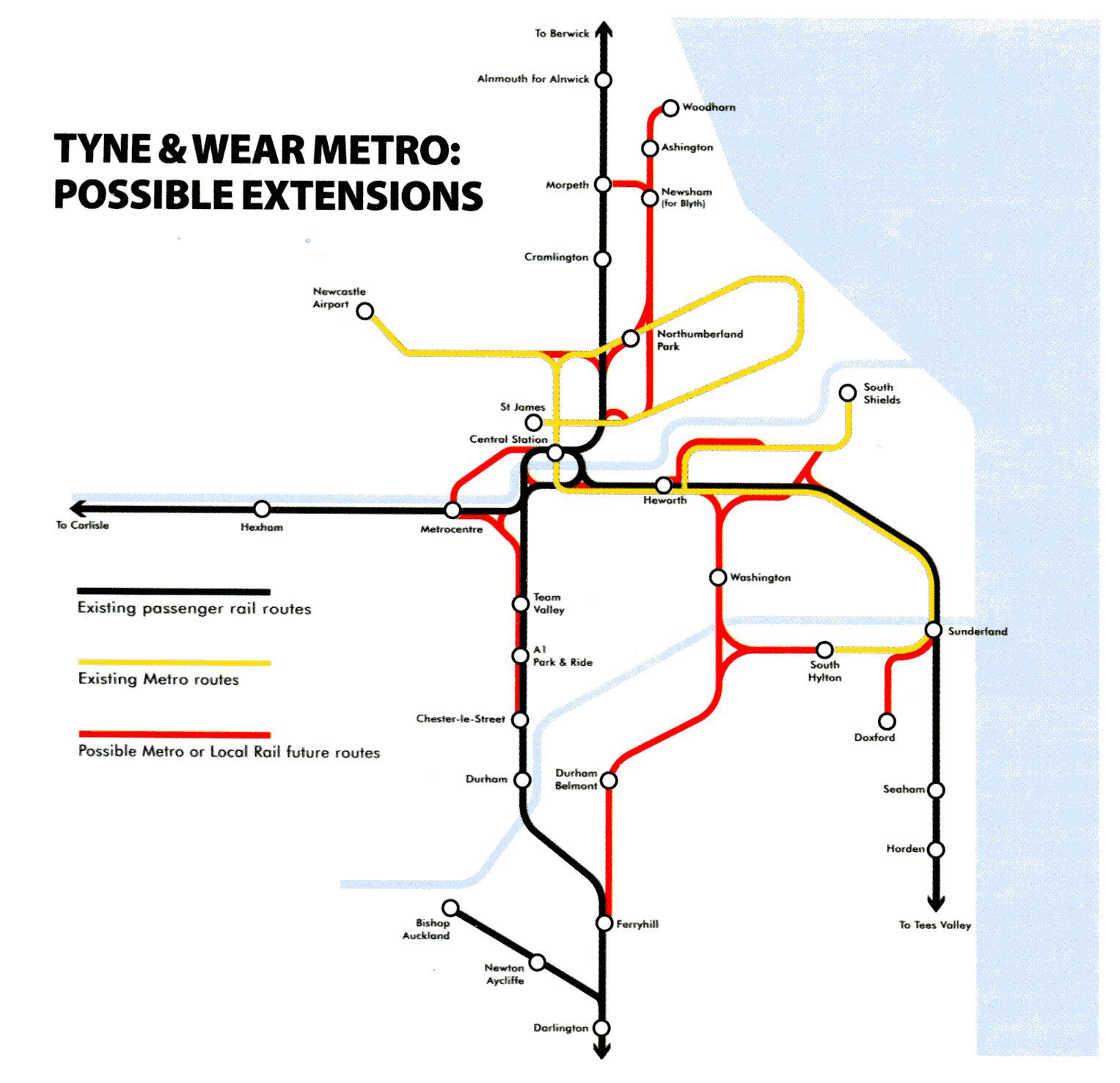How To Outline Story Like Subway Map.Newcastle Tyne Wear Metro Nexus