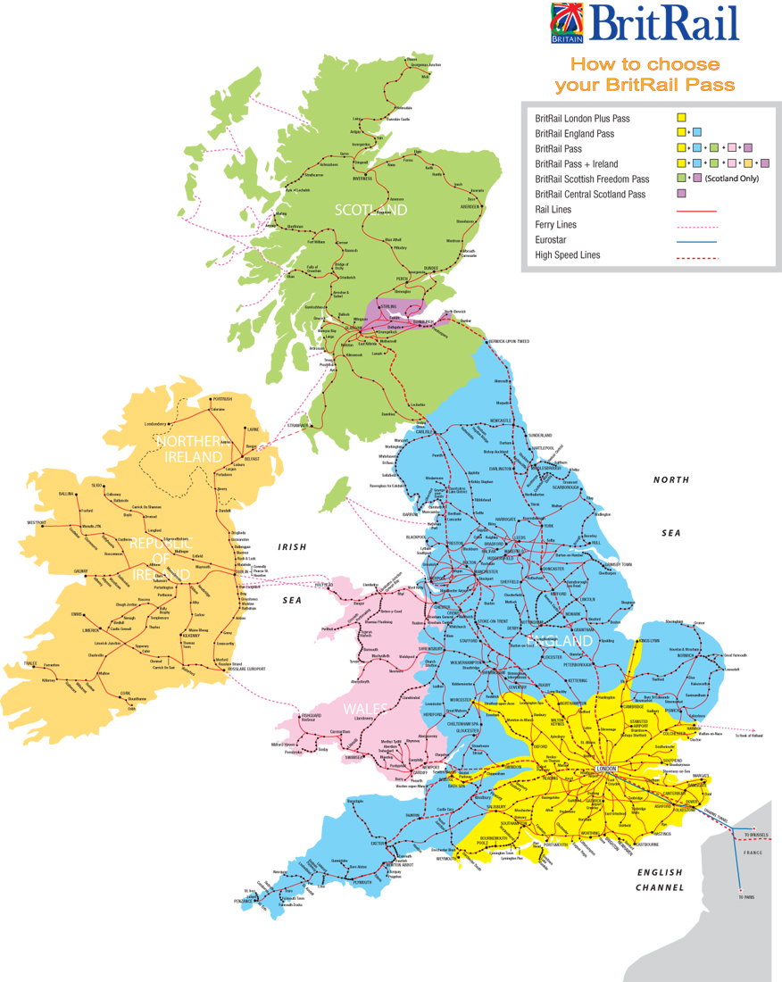 GB rail maps schematic and geographic