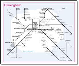 West Midlands Train  Rail Maps