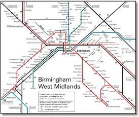 birmingham west midlands rail train map